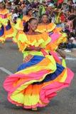 Dansers in een fiesta in Cartagena, Colombia Stock Foto