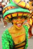 Dansers in een fiesta in Cartagena, Colombia Royalty-vrije Stock Afbeeldingen