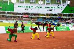 Dansers en acrobaten Royalty-vrije Stock Foto
