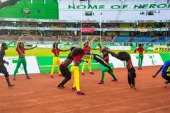 Dansers en acrobaten Stock Fotografie