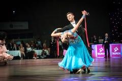 Dansers het dansen standaarddans Royalty-vrije Stock Foto