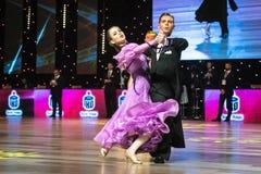 Dansers het dansen standaarddans Stock Foto