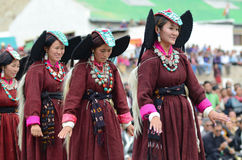 Dansers in historische kostuums Stock Fotografie
