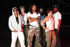 Dansers op stadium Stock Foto