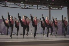 Dansers op stadium Stock Afbeeldingen
