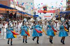 Dansers in Oruro Carnaval in Bolivië Royalty-vrije Stock Fotografie
