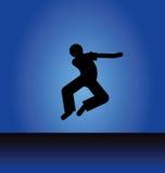 Danserssilhouet Royalty-vrije Stock Fotografie