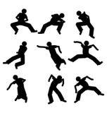 Danserssilhouet Stock Afbeelding