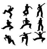 Danserssilhouet Royalty-vrije Stock Afbeelding