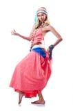 Danses de danse d'Espagnol de danseur Image libre de droits