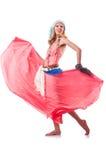 Danses de danse d'Espagnol de femme Photos stock
