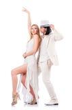 Danses de danse de paires Photo stock