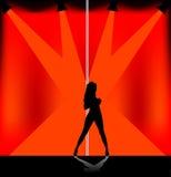 Danses de fille Images libres de droits