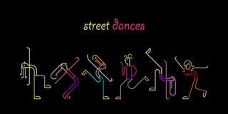 Danses de rue illustration stock