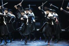 Danses géorgiennes photographie stock libre de droits