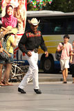 Danseur asiatique de rue de cowboy photos stock