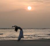 Danseur au lever de soleil Photo libre de droits