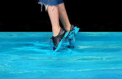 Danseur bleu Image stock