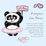 Danseur classique de Panda Girl, fond d'illustration de vecteur Illustration de Vecteur