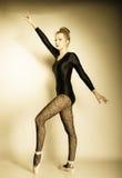 Danseur classique gracieux de femme intégral Image stock