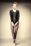 Danseur classique gracieux de femme intégral Images libres de droits