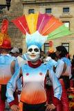 Danseur colombien dans un défilé de Bogota Images libres de droits