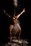 Danseur contemporay de farine discret images stock