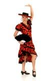 Danseur d'Espagnol de femme Photographie stock libre de droits