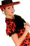 Danseur d'Espagnol de femme Photo libre de droits