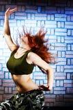 Danseur d'houblon de gratte-cul Images libres de droits