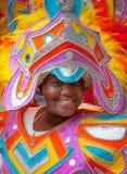 Danseur dans Junkanoo en Bahamas Image libre de droits