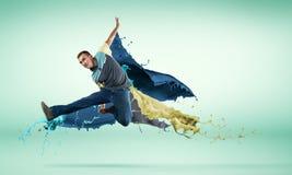 Danseur dans le saut photo libre de droits