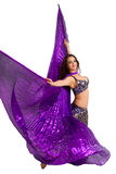 Danseur dans un costume argenté Photos libres de droits
