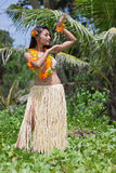 Danseur de danse polynésienne d'Hawaï Photographie stock libre de droits