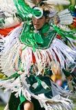 Danseur de fantaisie de Powwow Photos stock