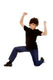 Danseur de garçon avec l'assiette Image libre de droits