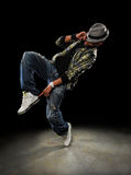 Danseur de Hip Hop Photos libres de droits