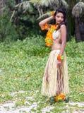 Danseur de hula d'Hawaï photographie stock libre de droits