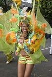 Danseur de l'école de Paraiso du flotteur de samba Photos stock