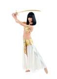 Danseur de l'Egypte avec une épée photo libre de droits