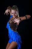 Danseur de latin de fille Photo libre de droits