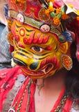 Danseur de masque, Katmandou, Népal Photographie stock libre de droits