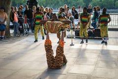 Danseur de rue extérieur images libres de droits