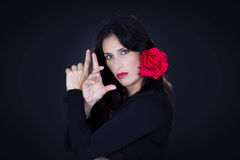 Danseur espagnol de Tradicional d'Andalousie Photos libres de droits