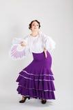 Danseur espagnol féminin de flamenco Photographie stock libre de droits