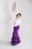 Danseur espagnol féminin de flamenco Image libre de droits