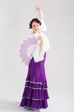 Danseur espagnol féminin de flamenco Photo stock
