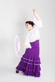 Danseur espagnol féminin de flamenco Photo libre de droits