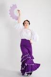 Danseur espagnol féminin de flamenco Photos libres de droits