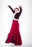 Danseur espagnol féminin de flamenco Photographie stock